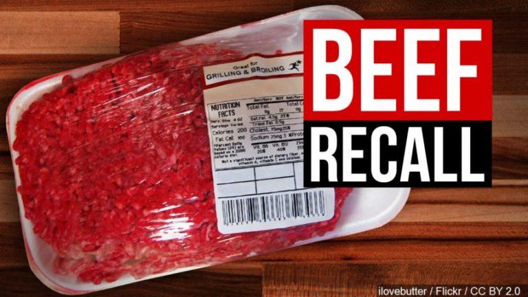 소고기 냉장육 약30만 파운드 이콜라이 오염으로 리콜